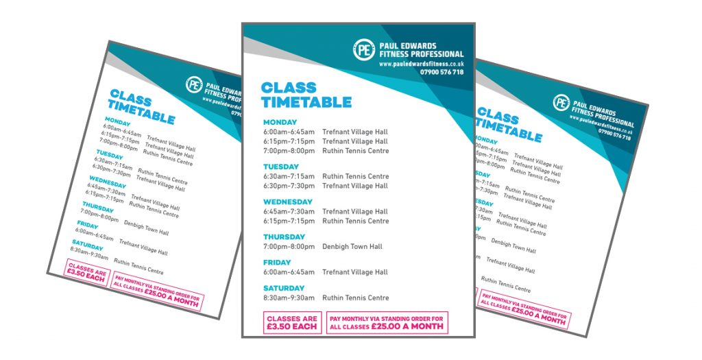 Fitness Timetable